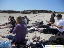 Séminaire en Normandie dans la Manche_3_Pique Nique sur un îlot